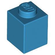 LEGO Dark Azure Brick 1 x 1 3005 - 6225538
